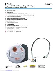 Sony Walkman D-FS601 Manuals