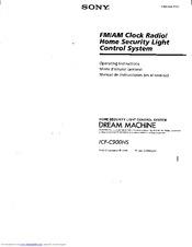 Sony Dream Machine ICF-C900HS Operating Instructions Manual