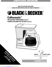 Black & Decker Coffeematic DCM90M Series Use And Care Book