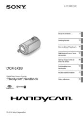 Sony Handycam DCR-SX83E Manuals