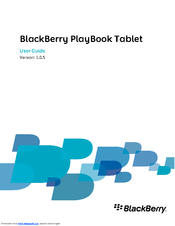 Blackberry PlayBook RDJ21WW User Manual