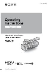 sony handycam hdr fx1 operating instructions manual pdf download rh manualslib com Camcorder Sony FX 1 sony fx1 manual pdf