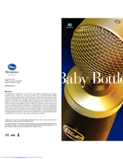 blue microphones baby bottle manuals rh manualslib com Instruction Manual Book Owner's Manual