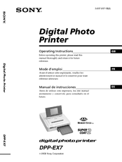 sony digital photo printer dpp ex7 manuals rh manualslib com Sony Owner's Manual Online Sony DAV HDX576WF Manual