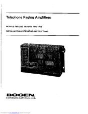 bogen tpu 35b manuals rh manualslib com Bogen Model TPU100B Bogen TPU100B Amplifier