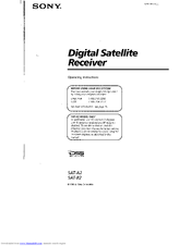 Sony SAT-B2 - Digital Satellite System Operating Instructions Manual
