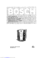 Bosch AUTOMATIC COFFEE CENTRE TCA 6301 UC Use And Care Manual
