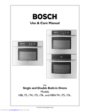 Bosch Hbl745auc Use And Care Manual Pdf