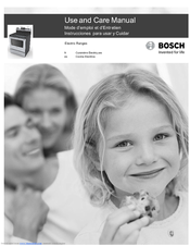 Bosch 300 Series Use And Care Manual
