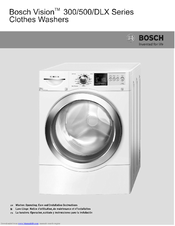 bosch vision 300 series wfvc3300 operating and installation rh manualslib com Bosch Ventless Stackable Washer Dryer Bosch Compact Washer Dryer