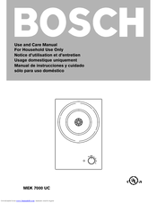 Bosch MEK 7000 UC Use And Care Manual