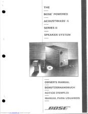 bose acoustimass 5 ii series manuals rh manualslib com