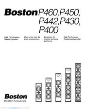 boston acoustics p400 manuals rh manualslib com Boston Acoustics Bookshelf Speakers Boston Acoustics Clock Radio