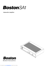 boston acoustics sa1 manuals rh manualslib com boston acoustics soundbar manual boston acoustics a26 manual