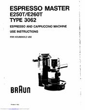 braun espresso master e260t manuals rh manualslib com Braun Cappuccino Braun Coffee Maker Retailers