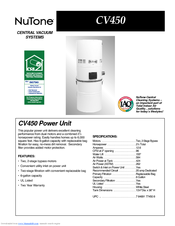 nutone cv450 manuals rh manualslib com NuTone Bathroom Fan Installation Wire Broan Bell Wiring-Diagram