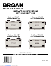 Broan Fresh Air System ERV90HCT Manuals | ManualsLibManualsLib
