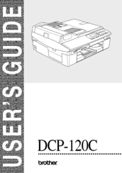 Brother DCP120C - Flatbed Multifunction Photo Capture Center User Manual