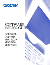 Brother DCP-7025 Software User's Manual