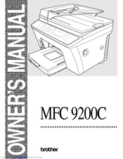 Brother MFC-9200C User Manual