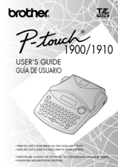 Brother P Touch Pt 1910 Manuals