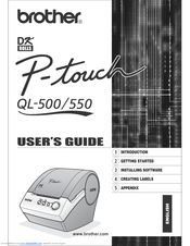 Brother andtrade; QL-500 User Manual
