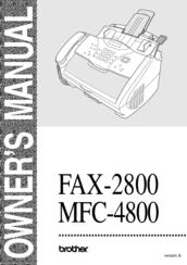 Brother Laser MFC-4800 Owner's Manual
