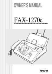 brother intellifax 1270e owner s manual pdf download rh manualslib com brother fax 1840c manuale brother fax-1840c manual de instrucciones