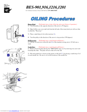 Brother BE-0901E PC Oiling Procedures