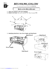 Brother BE-0901E PC Replacement Manual
