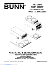 Bunn Coffee Maker User Guide : Bunn CDBCF Manuals