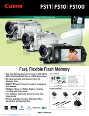 Canon FS10 Specifications