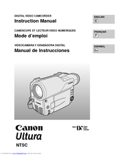 Canon Ultura - Ultura Digital Camcorder Instruction Manual