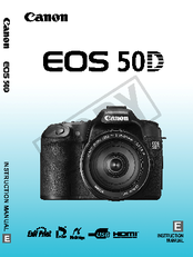 canon eos 50d instruction manual pdf download rh manualslib com canon eos m50 manual canon eos 50d manuel d'utilisation