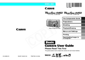 Canon PowerShot A450 Basic User's Manual
