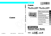 Canon PowerShot A450 Advanced User's Manual