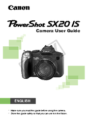 canon powershot sx20 is user manual pdf download rh manualslib com Camera Bag for Canon PowerShot SX40 A Canon Power Shoot