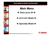 Canon BJC-S750 Paper Manual