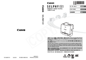 Canon 0324B001 - SELPHY ES1 Photo Printer User Manual