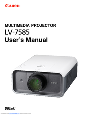 Canon 2473B002 - LV 7585 XGA LCD Projector User Manual