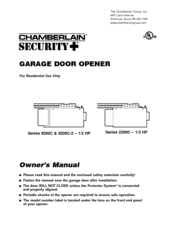 Chamberlain 2200C Owner's Manual