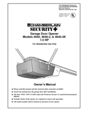 Chamberlain Security 4640 Manuals
