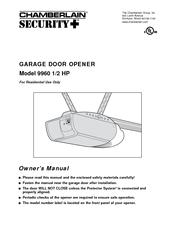Chamberlain 9960 Manuals