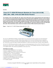 Cisco 2800 Series Datasheet
