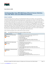 Cisco ME 3400G-2CS - Ethernet Access Switch Product Bulletin