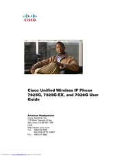 Cisco 7925G - Unified Wireless IP Phone VoIP User Manual