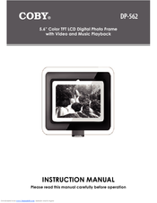 coby dp562 digital photo frame manuals rh manualslib com Instruction Manual Book Bissell PowerSteamer User Manual