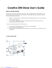 creative zen zen stone 1gb how to use manual pdf download rh manualslib com Creative Zen Touch Install Software Creative Zen Touch Install Software