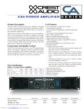 crest audio ca9 manuals rh manualslib com Carbonic Anhydrase 4 CA -10