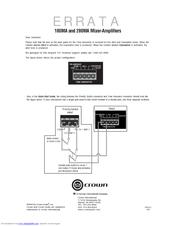 crown 180ma manuals rh manualslib com 70V Mixer Amplifier Commercial Audio Amplifier